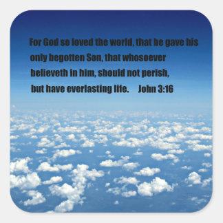 ジョンの3:16 スクエアシール