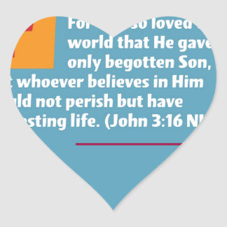 ジョンの3:16 ハートシール