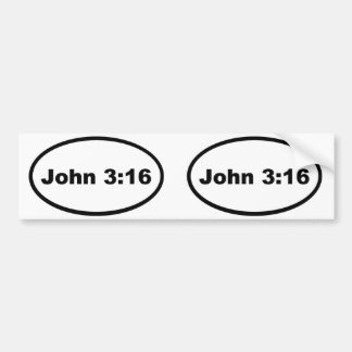 ジョンの3:16 バンパーステッカー