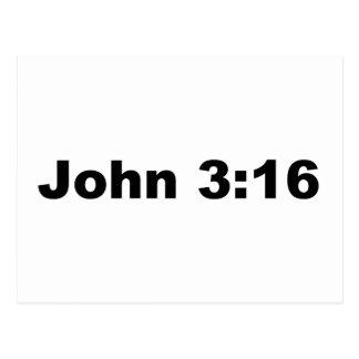 ジョンの3:16 ポストカード