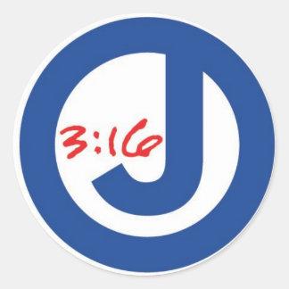ジョンの3:16 (ユニークなロゴ) ラウンドシール