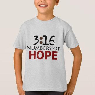 ジョンの3:16、希望のクリスチャンメッセージの数 Tシャツ