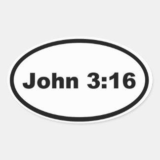 ジョンの3:16 楕円形シール