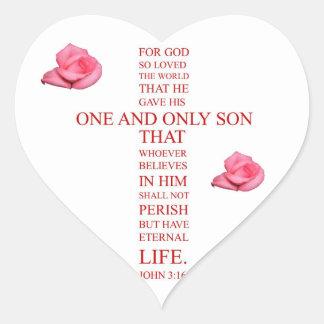 ジョンの3:16 -神のために…そう世界を愛しました ハートシール