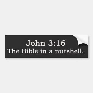 ジョンの3:16。  聖書簡潔に言えば。 バンパーステッカー