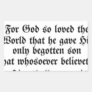 ジョンの3:16 長方形シール