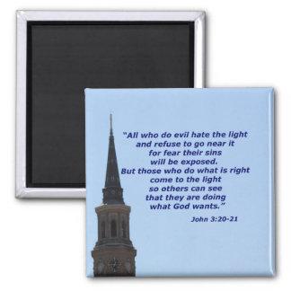 ジョンの3:20 - 21 マグネット
