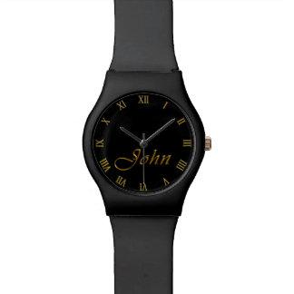 ジョンはカスタマイズ可能な腕時計のギフトを名前決め付けました 腕時計