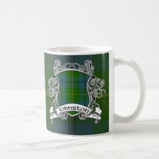 ジョンソンのタータンチェックの盾 コーヒーマグカップ