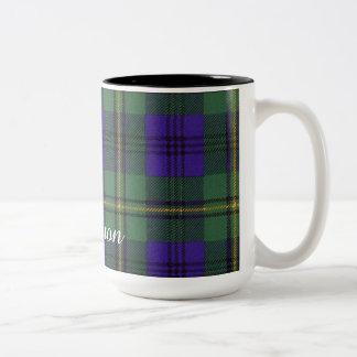 ジョンソンの一族の格子縞のスコットランド人のタータンチェック ツートーンマグカップ