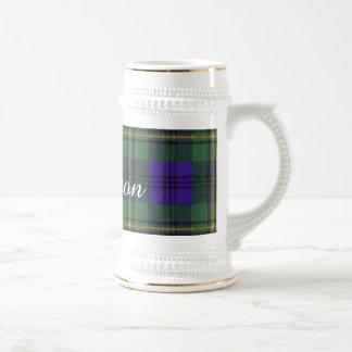 ジョンソンの一族の格子縞のスコットランド人のタータンチェック ビールジョッキ