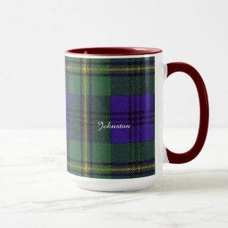 ジョンソンの一族の格子縞のスコットランド人のタータンチェック マグカップ