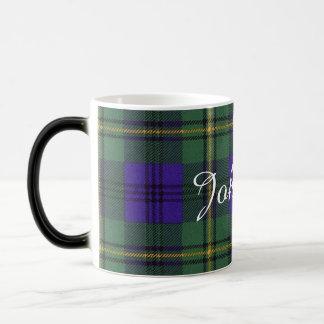 ジョンソンの一族の格子縞のスコットランド人のタータンチェック モーフィングマグカップ