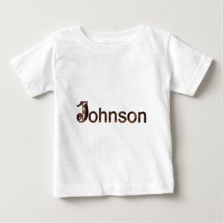 ジョンソンの姓 ベビーTシャツ