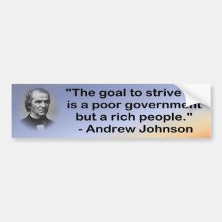 ジョンソンの悪い政府のバンパー バンパーステッカー