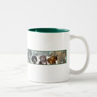 ジョンソン大きい犬のマグ ツートーンマグカップ