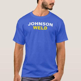 ジョンソン溶接軽い文字 Tシャツ