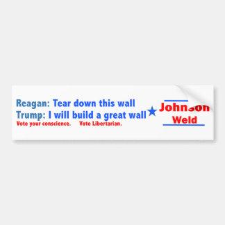 ジョンソン溶接2016年 -- 切札はレーガンではないです バンパーステッカー