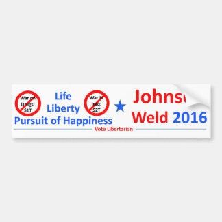 ジョンソン溶接2016年 -- 投票自由意志論者 バンパーステッカー