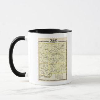 ジョンソン郡およびウィーンの地図 マグカップ