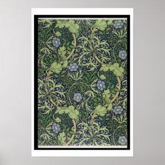 ジョンヘンリーDeが印刷する海藻壁紙のデザイン ポスター