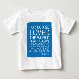 ジョン316 -感動的な引用文 ベビーTシャツ