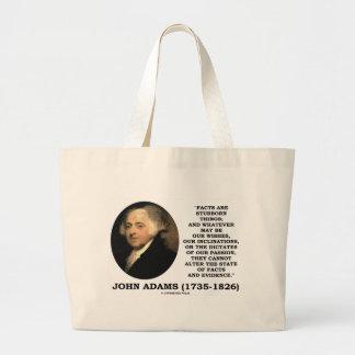 ジョン・アダムズの事実は頑固な事の証拠です ラージトートバッグ