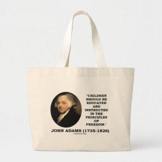 ジョン・アダムズの子供は主義の自由に指示しました ラージトートバッグ
