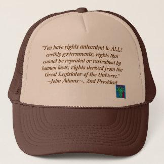 ジョン・アダムズの引用文の帽子 キャップ