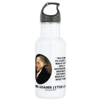ジョン・アダムズは政府の終わりはであるもの考慮するべきです ウォーターボトル