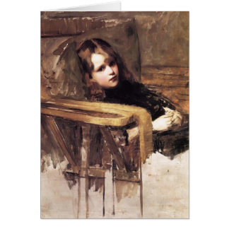 ジョン・ウィリアム・ウォーターハウス著安楽椅子 カード