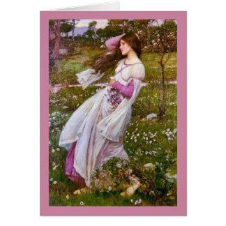 ジョン・ウィリアム・ウォーターハウス著Windflowers カード