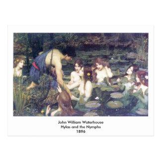 ジョン・ウィリアム・ウォーターハウス- Hylasおよびニンフ ポストカード