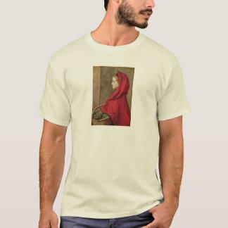 ジョン・エヴァレット・ミレー著赤ずきん Tシャツ