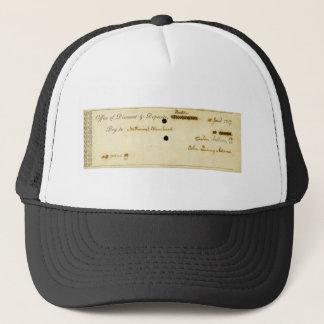 ジョン・クィンシー・アダムズのオリジナルによって署名される点検 キャップ