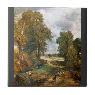 ジョン・コンスタブル- 1826年のとうもろこし畑 タイル