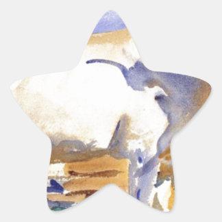 ジョン・シンガー・サージェント著シエナの白いウシ 星シール