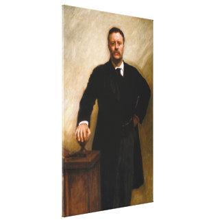 ジョン・シンガー・サージェント著セオドア・ルーズベルトのポートレート キャンバスプリント