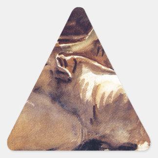 ジョン・シンガー・サージェント著休息のウシ 三角形シール