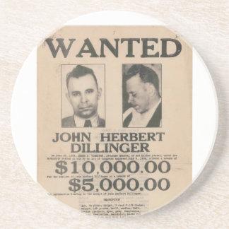 ジョン・デリンジャーはポスターがほしいと思いました コースター