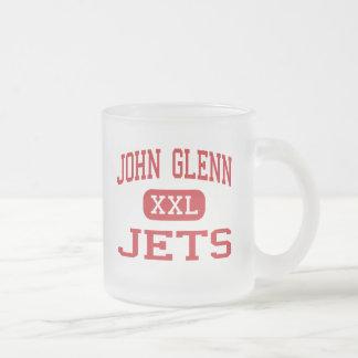 ジョン・ハーシェル・グレン-ジェット機-中間- Maplewoodミネソタ フロストグラスマグカップ
