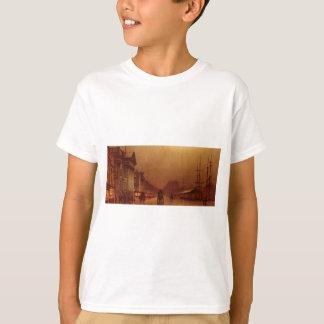 ジョンAtkinson Grimshaw著リヴァプールの税関 Tシャツ