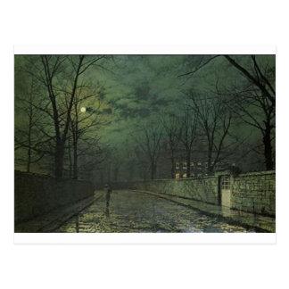 ジョンAtkinson Grimshaw著雨の後の月光 ポストカード