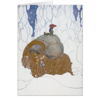 ジョンBauer著クリスマスのヤギJulbok カード