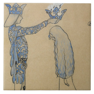ジョンBauer -それから王子を金ゴールドの王冠置いて下さい タイル