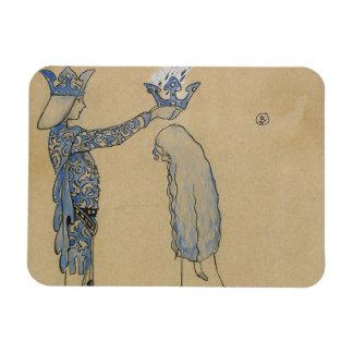 ジョンBauer -それから王子を金ゴールドの王冠置いて下さい マグネット