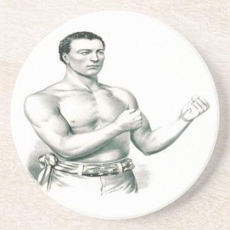 ジョンC. Heenan -チャンピオン裸指の関節のボクサー! コースター