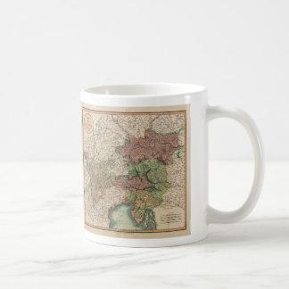 ジョンCary著1801年にオーストリアの円の地図 コーヒーマグカップ