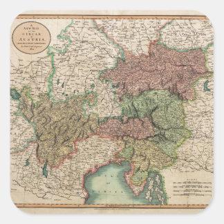 ジョンCary著1801年にオーストリアの円の地図 スクエアシール