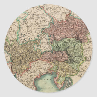 ジョンCary著1801年にオーストリアの円の地図 ラウンドシール